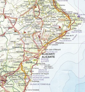 map for scooters Costa Blanca